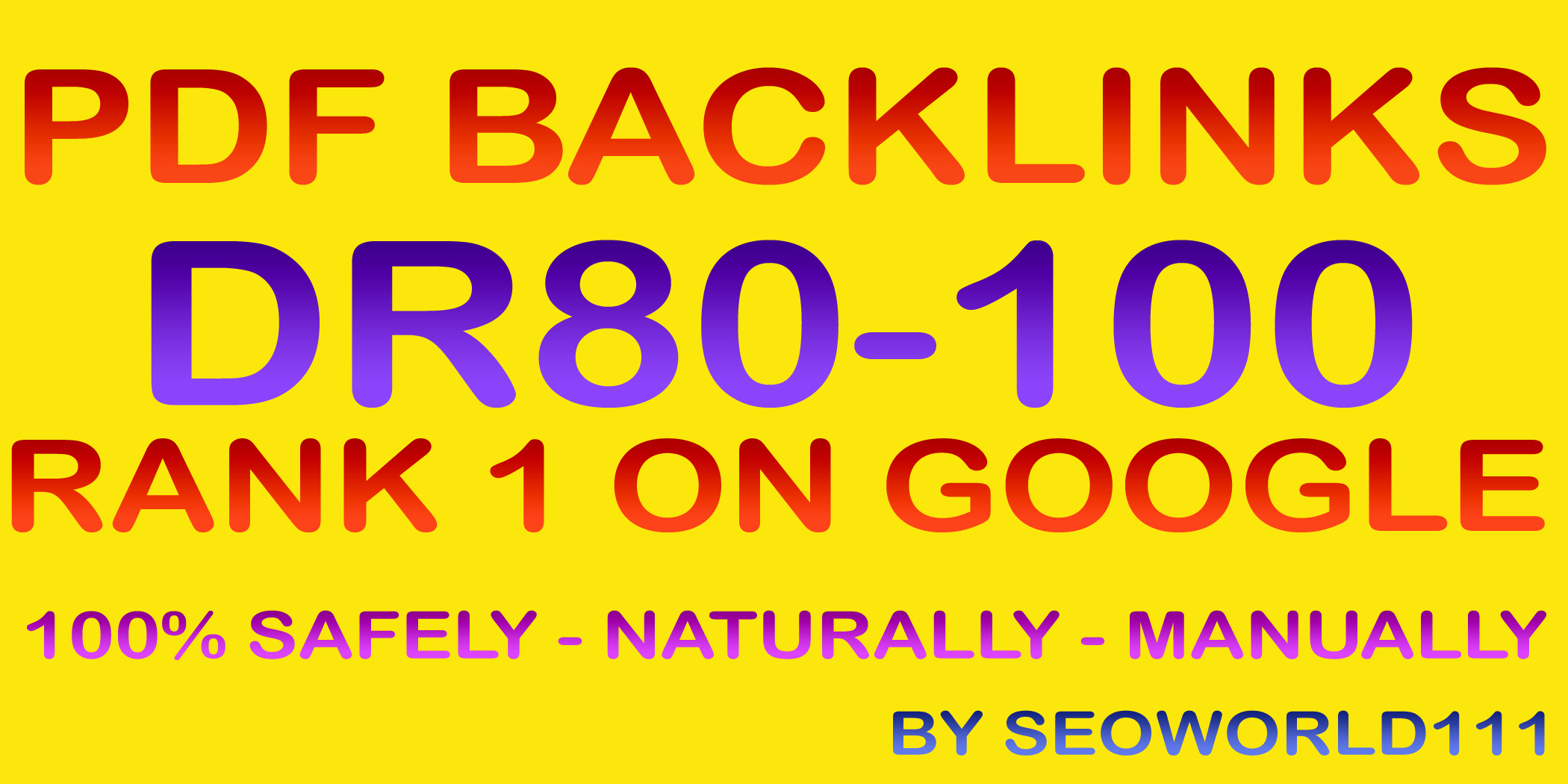 Exclusive 5 PDF Backlinks - DR80-100 - Rank 1 On Google
