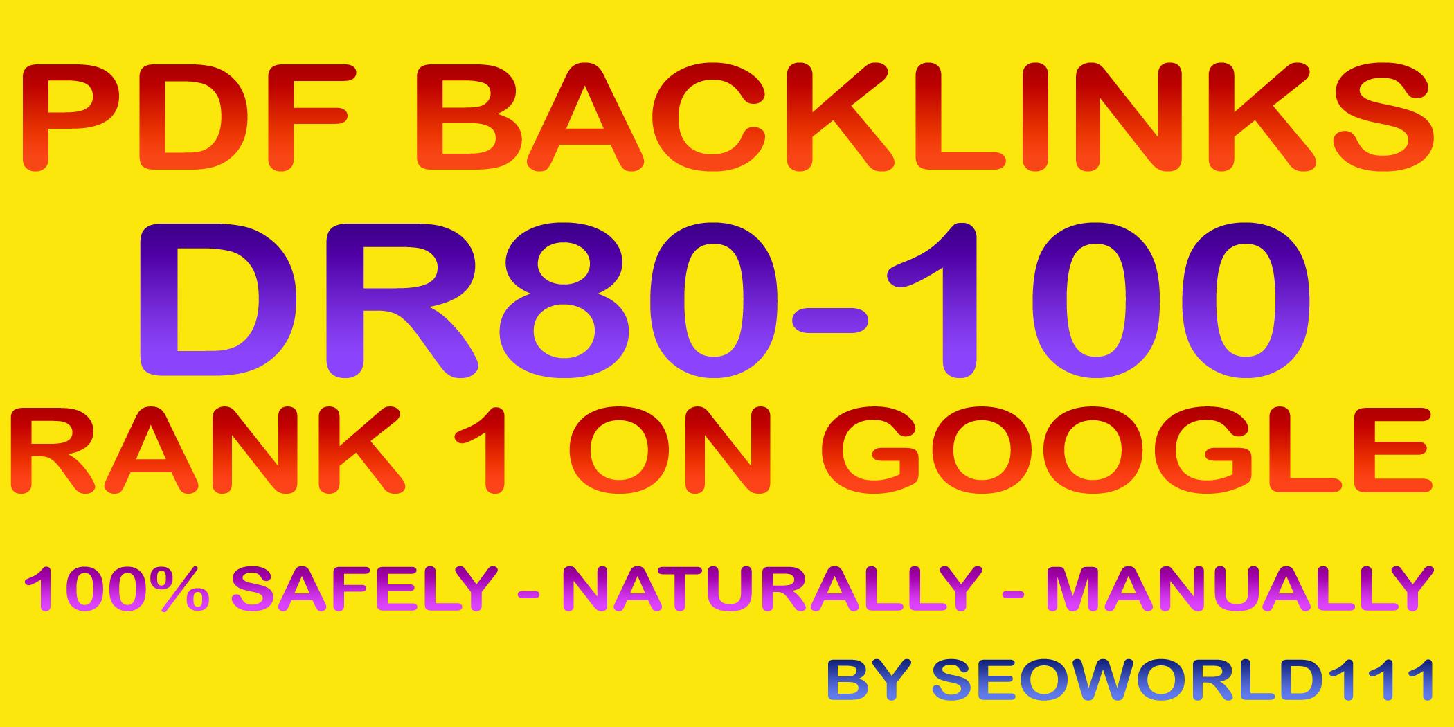 Exclusive 5 PDF Backlinks - DR80-100 - Rank 1 On Google