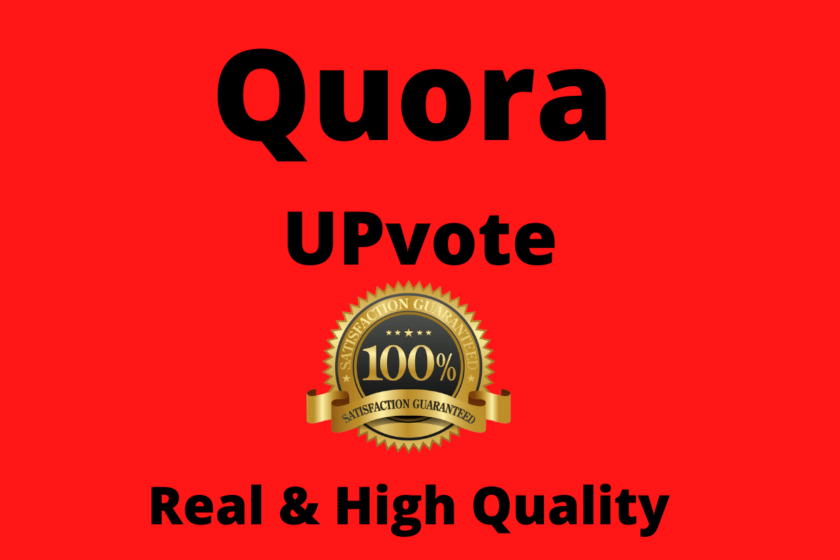 I will do 45+ Worldwide Quora Upvote or Follow