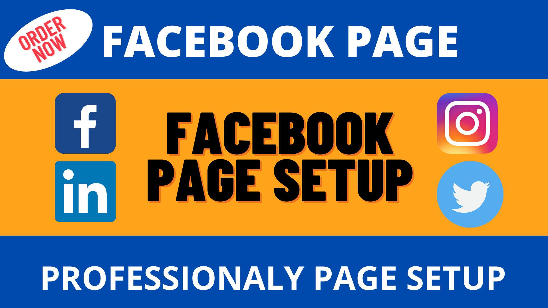 I will create a professional FB business page