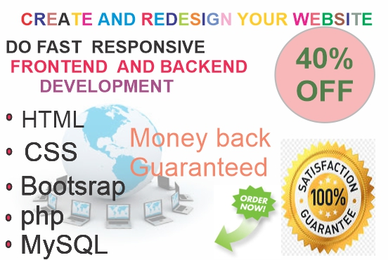 HTML and CSS editing and Design