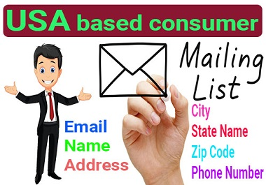 8000 USA Based Verified,  Clean and Active Consumer Email List for Email Marketing