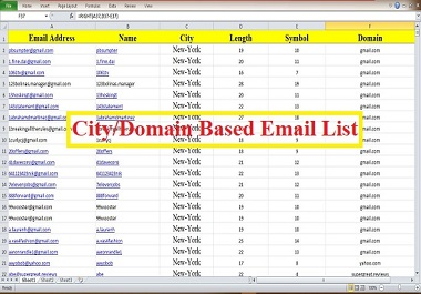 I will provide verified and active 2.5k niche targeted email list