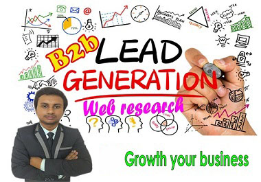I will perform lead generation and web research