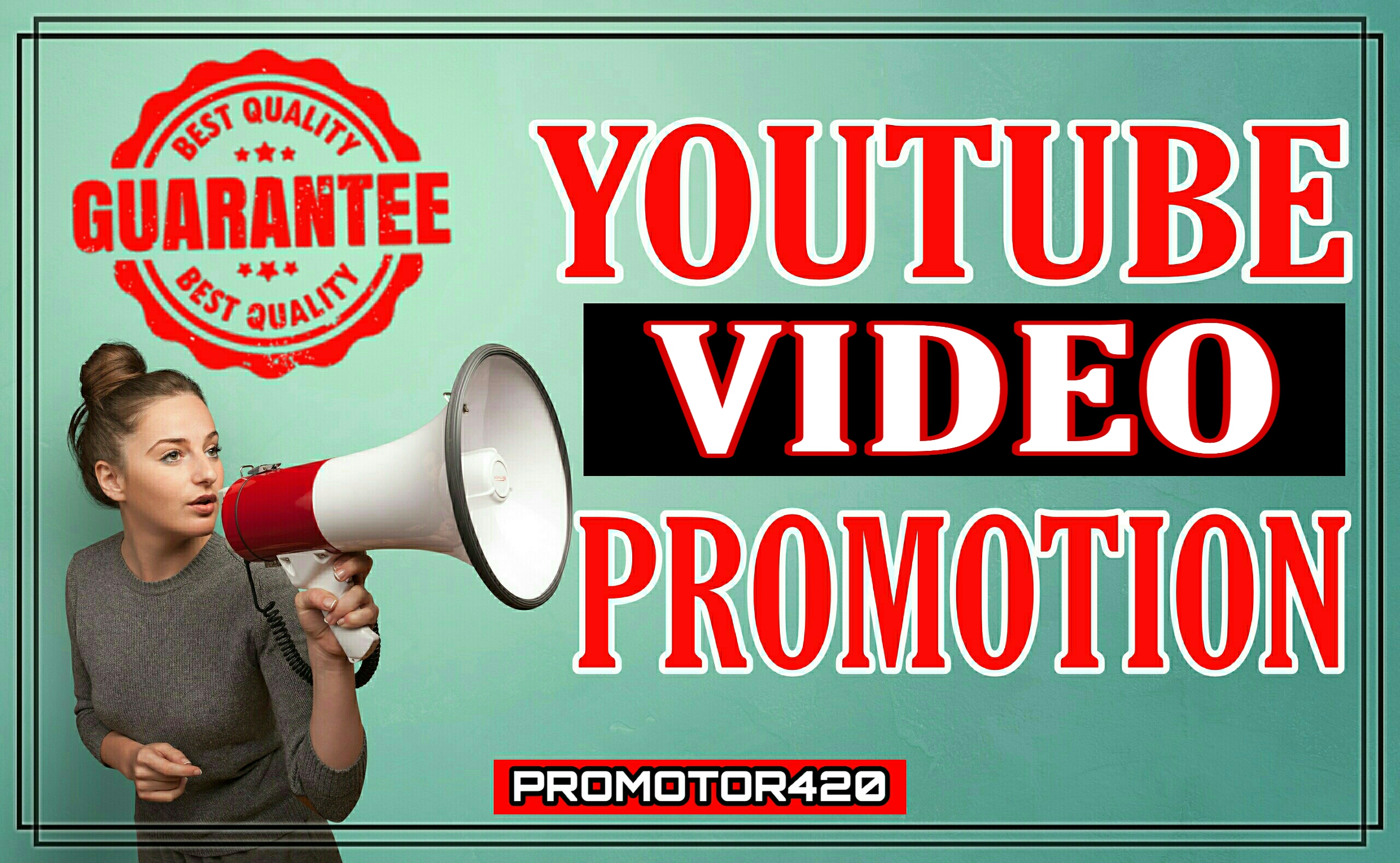 High quality youtube video promotions package