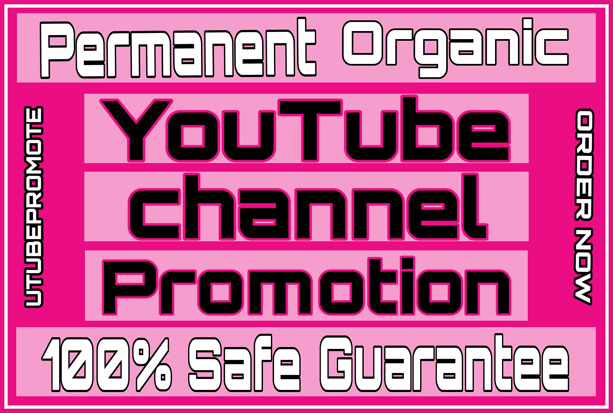Real & permanent youtube promotion with active users