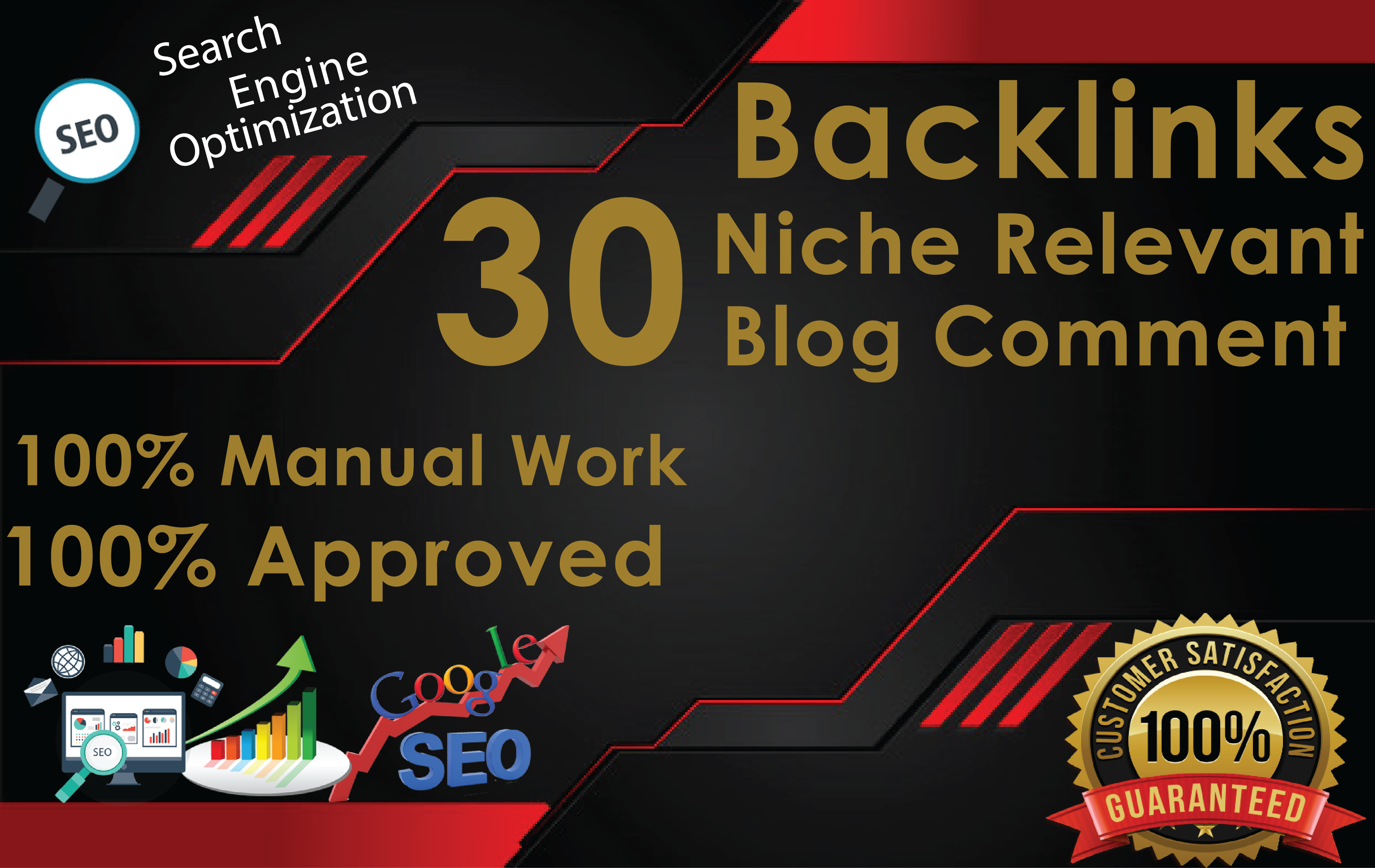Make 30 Niche Relevant Blog Comment Backlinks Off Page SEO