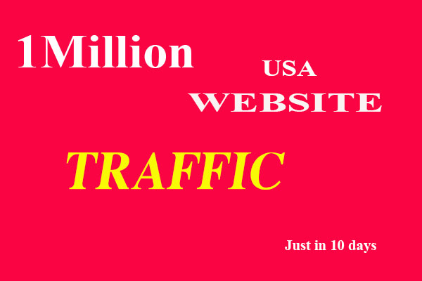 Provide 1 Million 1,000,000 worldwide website Traffic Within 10 Days