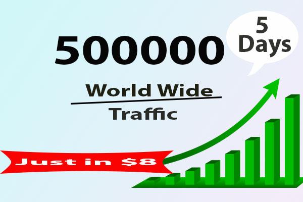 Add 500000 Worldwide Traffic in 5 days