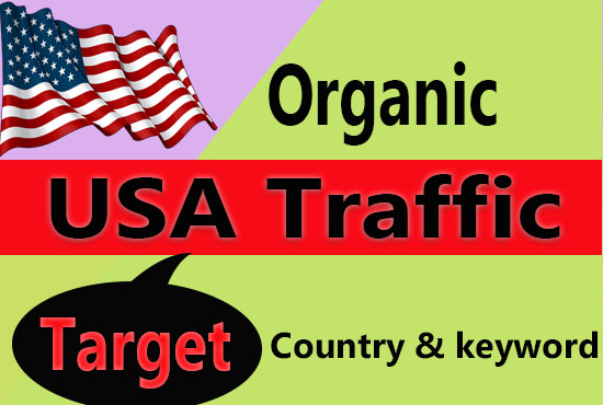 Organic and Safe USA Country Targeted Website Traffic