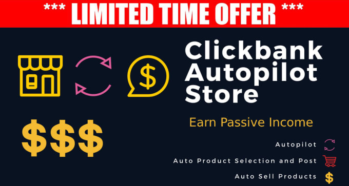 I will create a Clickbank Autoblog affiliate website For Passive Income