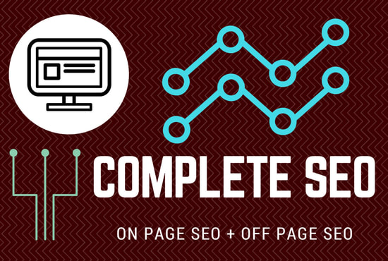 I will do complete off page and On page for 1st page ranking on google