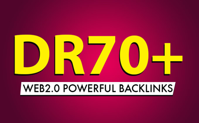 I will do 100 DR 70 plus contextual dofollow seo link building backlinks