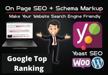 wordpress yoast SEO optimization technical on page optimization for Google top ranking with schema