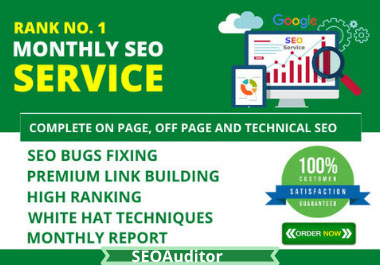 I Will Do Monthly SEO Optimization And Rank Your Website On Google Search Engine Through Proper SEO