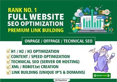 I Will Do Completely SEO Optimization Of Your Website That Will Increase Ranking