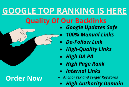 build high da site SEO backlinks in google top ranking