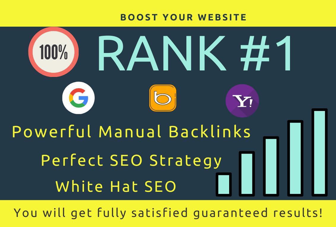 I will provide permanent dofollow white hat Contextual SEO backlinks