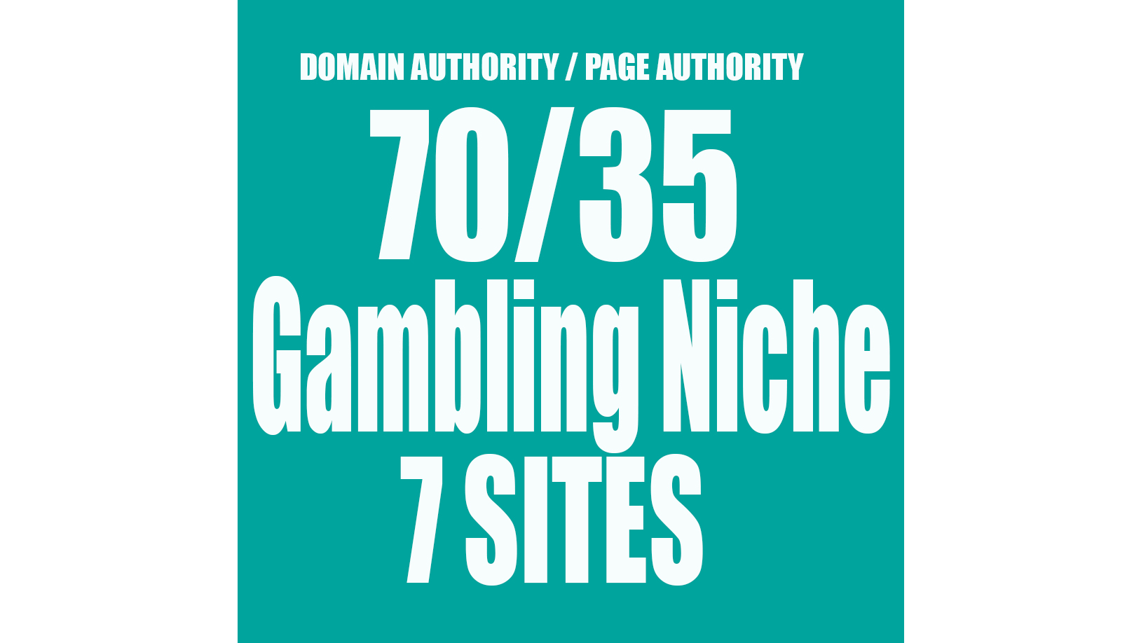I will give you 7 Permanent Backlink on Homepage GAMBLING Niche Website DA70 and PA35