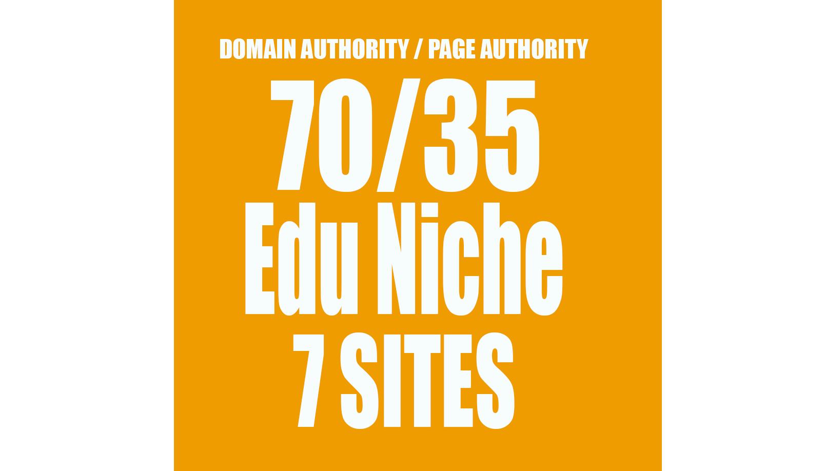 Permanent blogroll 7 sites DA70 EDUCATION CATEGORY