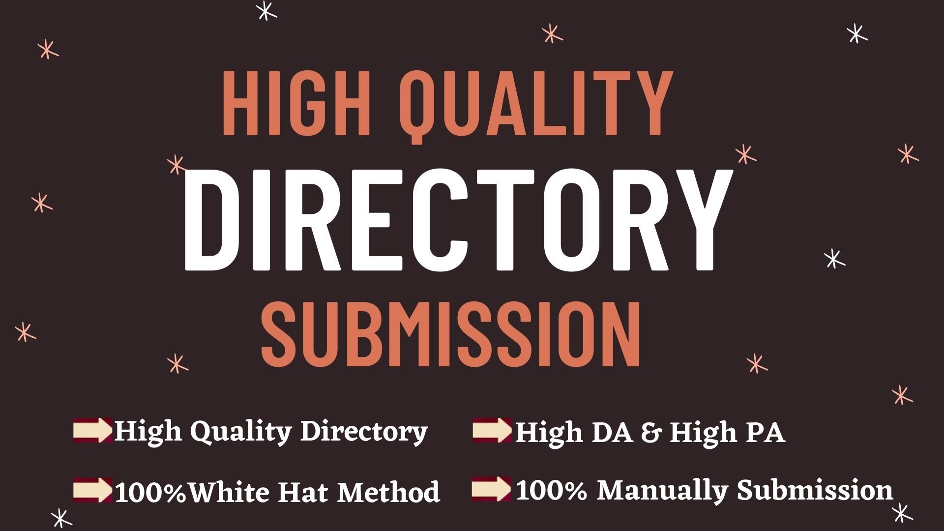 I will Provide 150 High Quality Directory Submission.