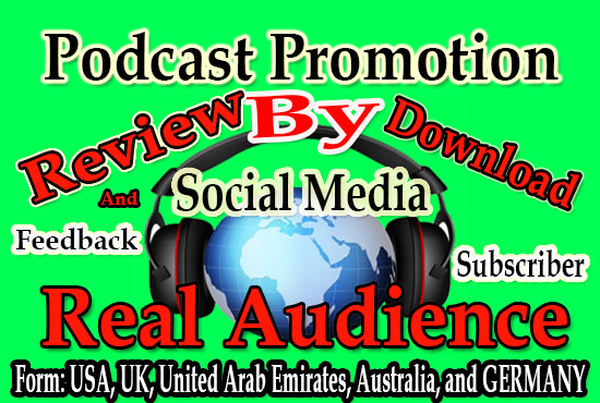I will promote your podcast social media for downloads and organic audience