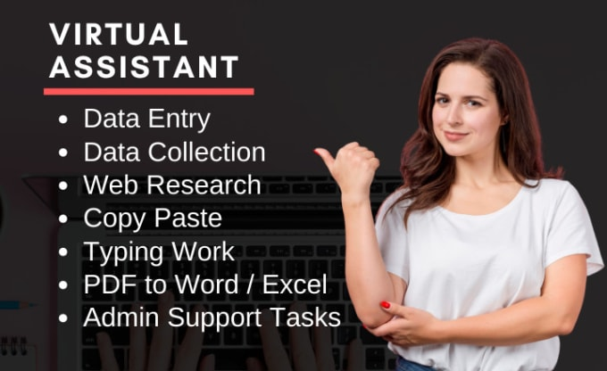I will do data entry,  PDF to text,  typing, copy paste