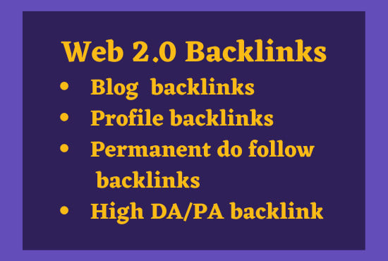 I will build 50 accurate web 2 0 backlinks