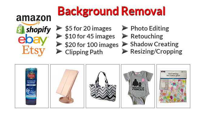 I will do bulk photo background removal and photoshop editing