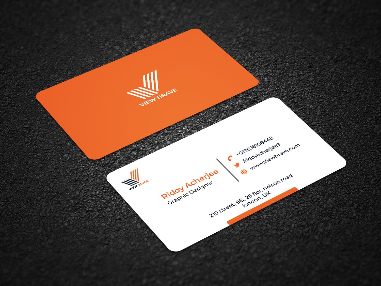 I will do corporate minimalist business card design