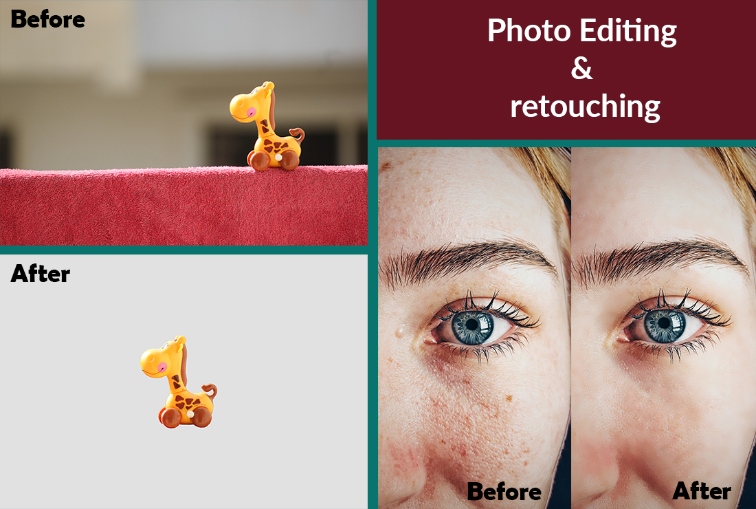 I will resize bulk images retouch, removal and Amazon product background remove in 6 hours, 5 image