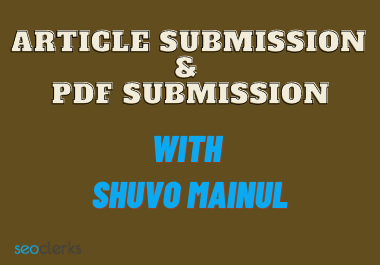 I Will Do 20 Article Submission And 20 PDF Submission