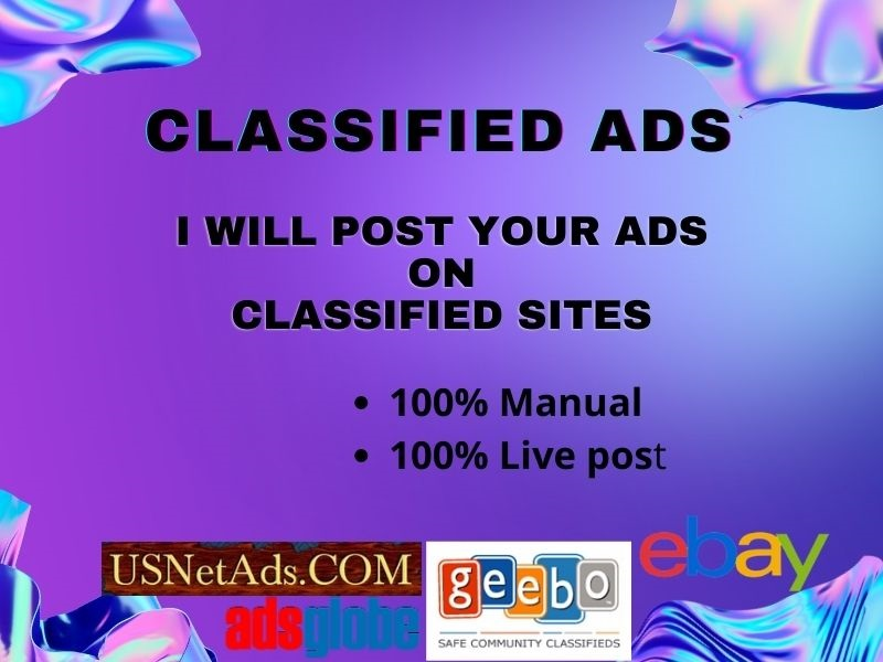 I Will Post Your Ads On 45 High PR Classified Websites.