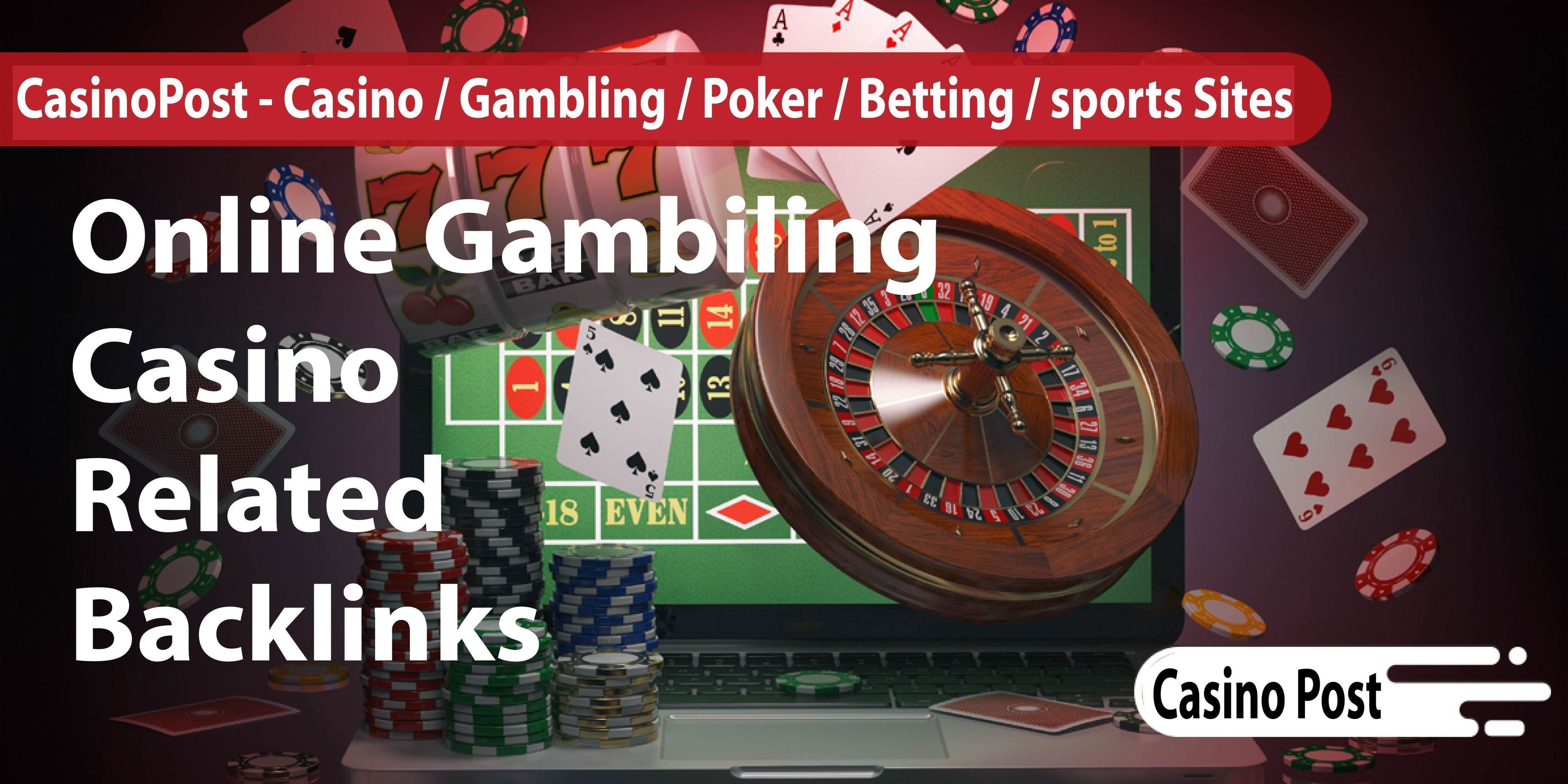 99+Casino,  Poker,  Gambling High Quality Homepage Backlinks on high authority sites