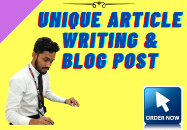 I Will Do 1000 Words SEO Optimized Article Writing,  Content Writing,  Blog Writing on Any Topic