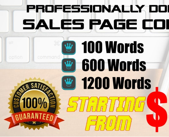 I will write a 600 word sales page copy