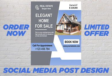 I will design eye-catching,  unique,  attractive social media post design for you.