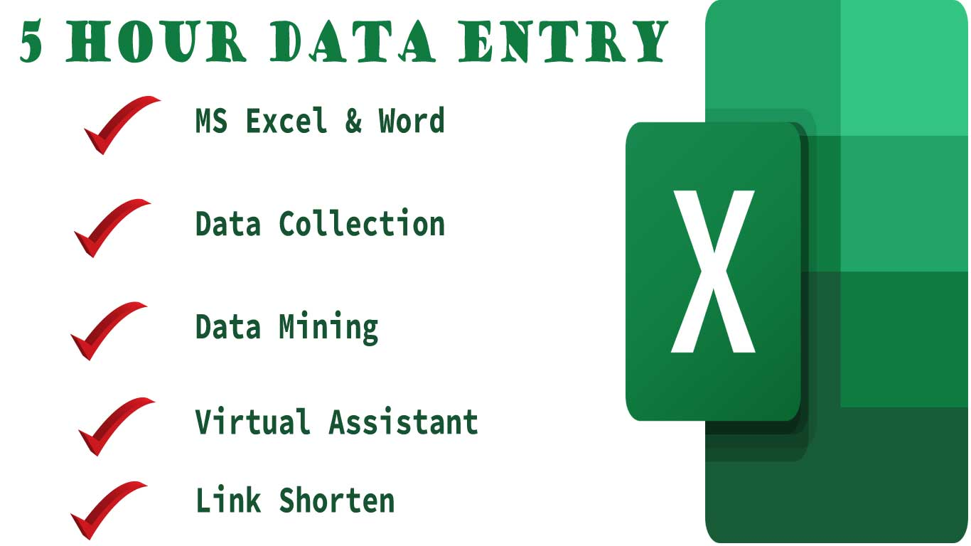 I ll Do Data Entry, Link Shorten & Virtual Assistant