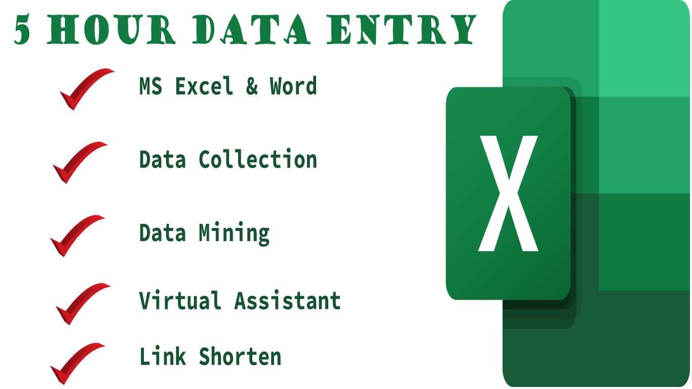 I ll Do Data Entry, Link Shorten & Virtual Assistant
