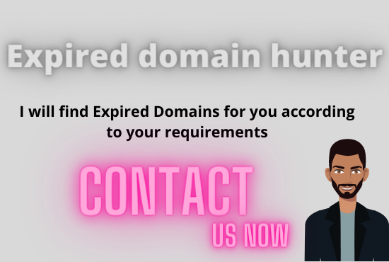I will be your Expired domain Researcher
