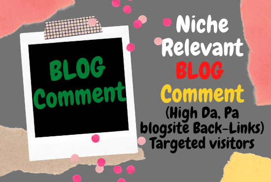Guaranteed 50+ high authority niche relevant blog comments back-links