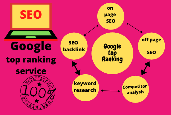 guaranteed Rank your Website at First Page of Google with High Authority SEO Back-links