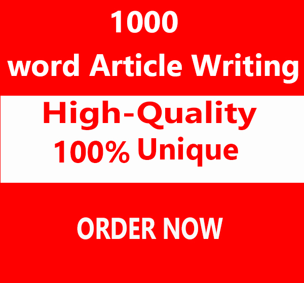 Write top quality 1000 Word Articles In Any Topic
