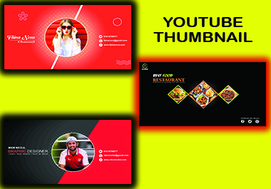 I will design creative YouTube thumbnail and banner