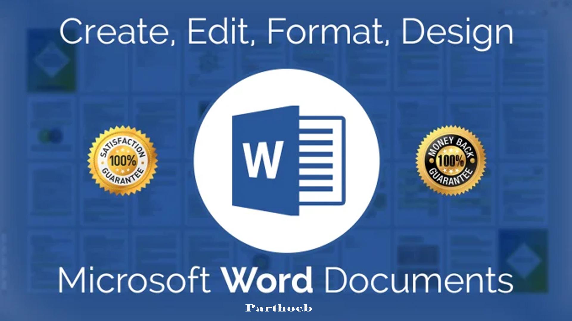 I will create,  edit,  format,  design,  convert microsoft word documents