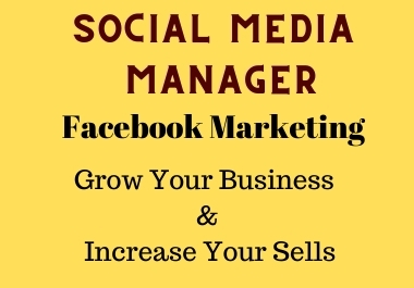 I can be your social media marketing manager