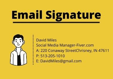I will design clickable email signature