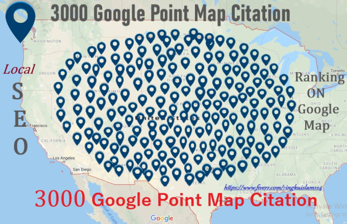 create 3000 google point map citation for local SEO ringkuislam124 ringkuislam124