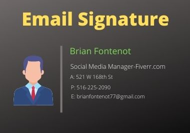 I will design a clickable HTML email signature