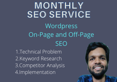 I will do the best monthly SEO service high ranking in google